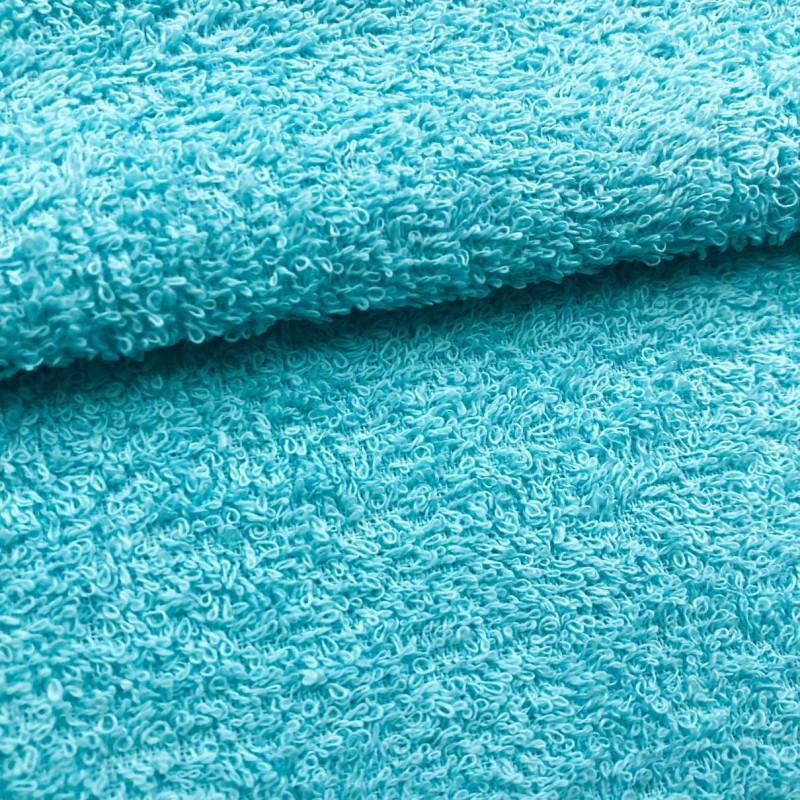 Tecido Felpa Atoalhado (Toalha) - 100% Algodão - 1,40m Largura - Azul celeste