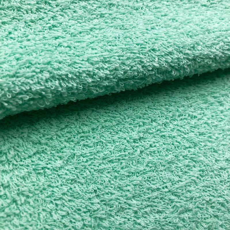 Tecido Felpa Atoalhado (Toalha) - 100% Algodão - 1,40m Largura - Verde bebê
