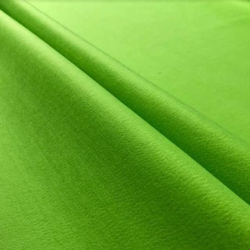 Tecido Feltro Liso Santa Fé - 100% Poliéster - 1,40m largura - Verde cítrico