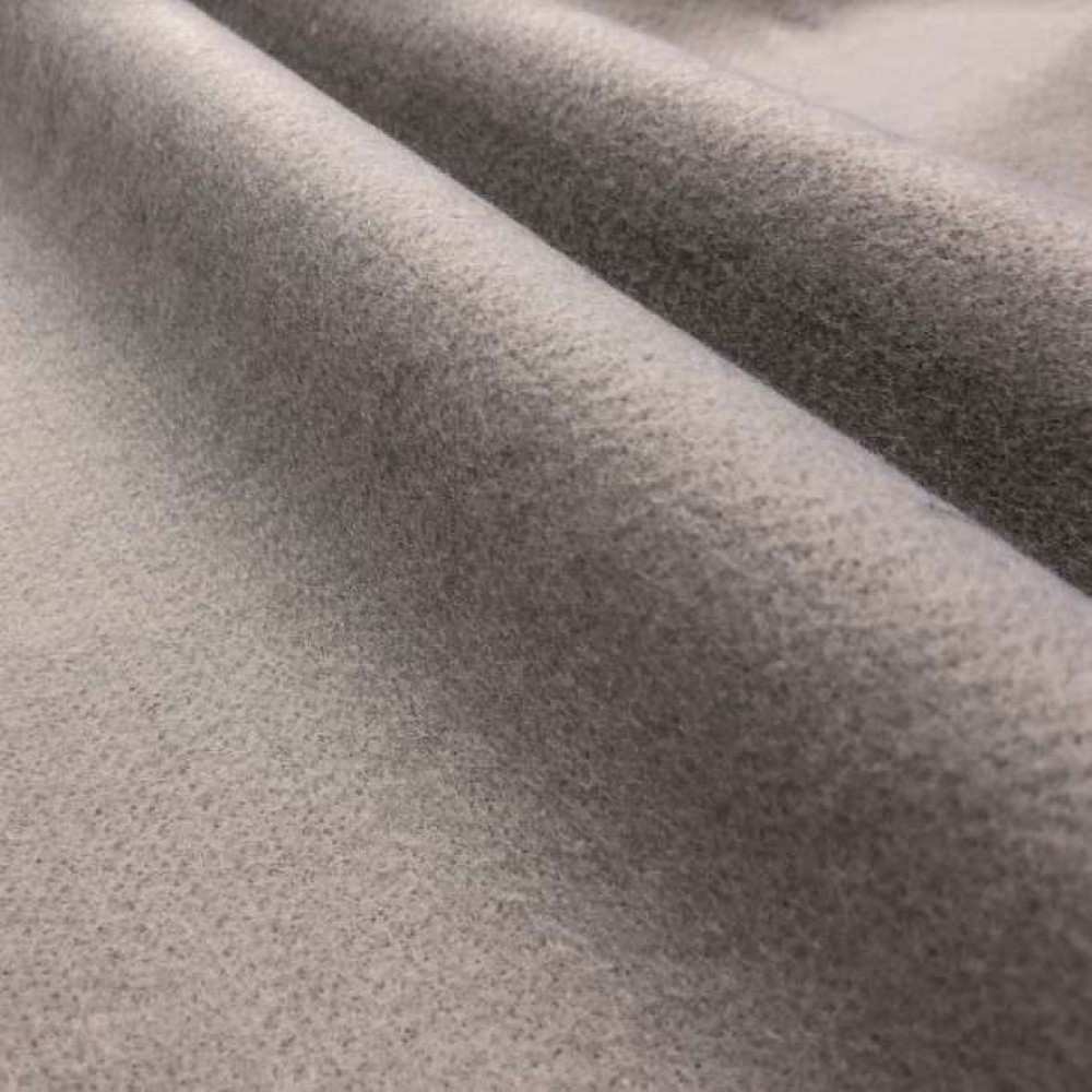 Tecido Feltro Liso Santa Fé - 100% Poliéster - 1,40m largura - Cinza claro