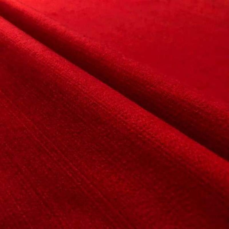 Tecido Feltro Liso Santa Fé - 100% Poliéster - 1,40m largura - Vermelho coleira