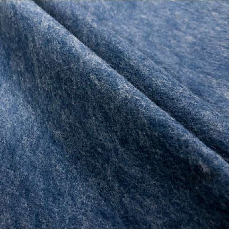 Tecido Feltro Liso Santa Fé - 100% Poliéster - 1,40m largura - Azul mescla