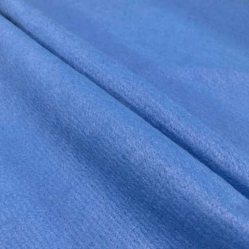 Tecido Feltro Liso Santa Fé - 100% Poliéster - 1,40m largura - Azul lyon