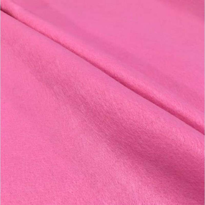Tecido Feltro Liso Santa Fé - 100% Poliéster - 1,40m largura - Rosa cerejeira