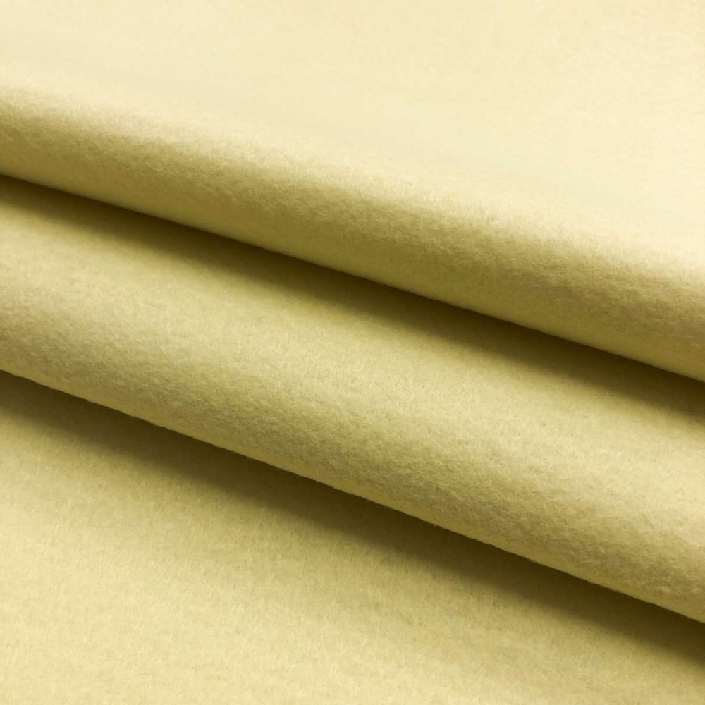 Tecido Feltro Liso Santa Fé - 100% Poliéster - 1,40m largura - Amarelo claro