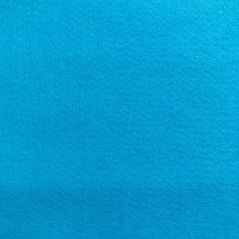 Tecido Feltro Liso Santa Fé - 100% Poliéster - 1,40m largura - Azul turquesa