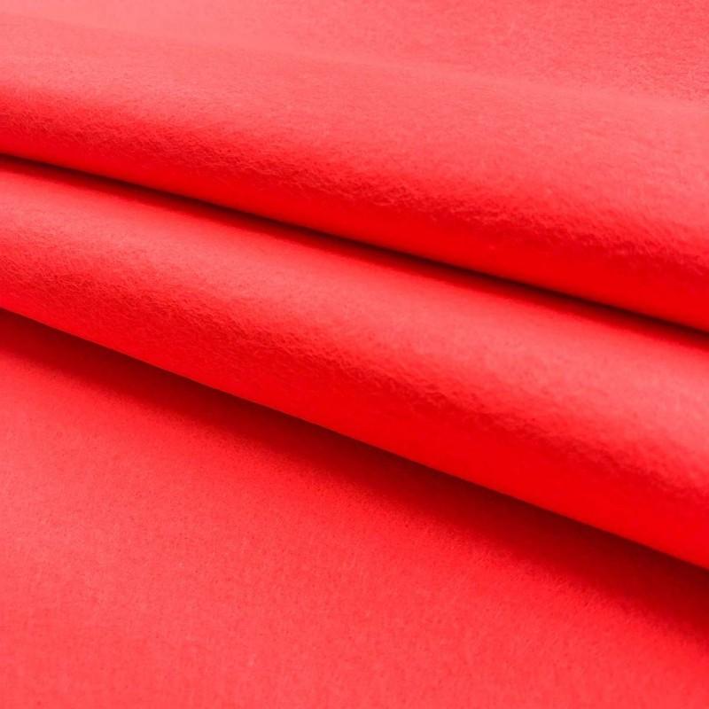 Tecido Feltro Liso Santa Fé - 100% Poliéster - 1,40m largura - Candy coral
