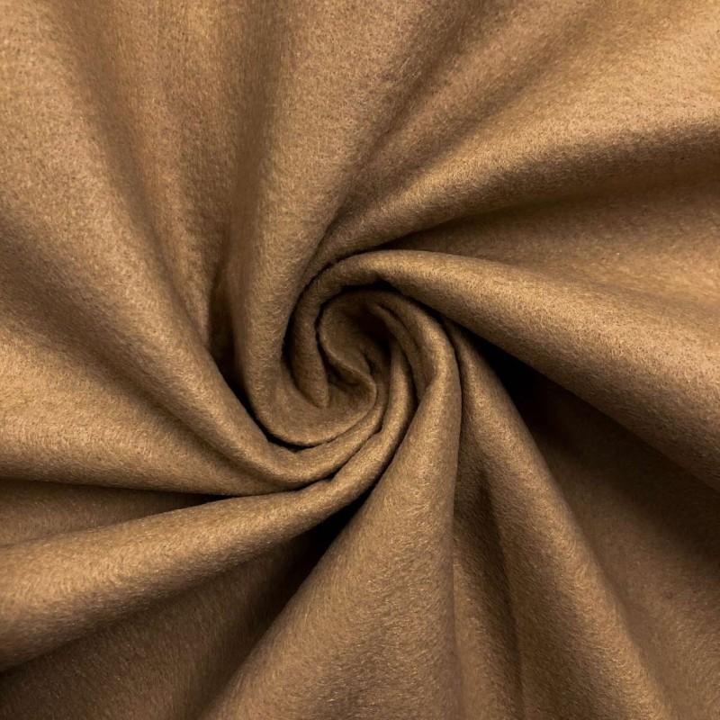 Tecido Feltro Liso Santa Fé - 100% Poliéster - 1,40m largura - Caramelo hawai