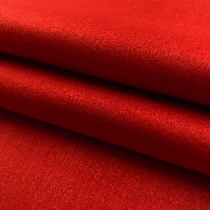Tecido Feltro Liso Santa Fé - 100% Poliéster - 1,40m largura - Vermelho noel