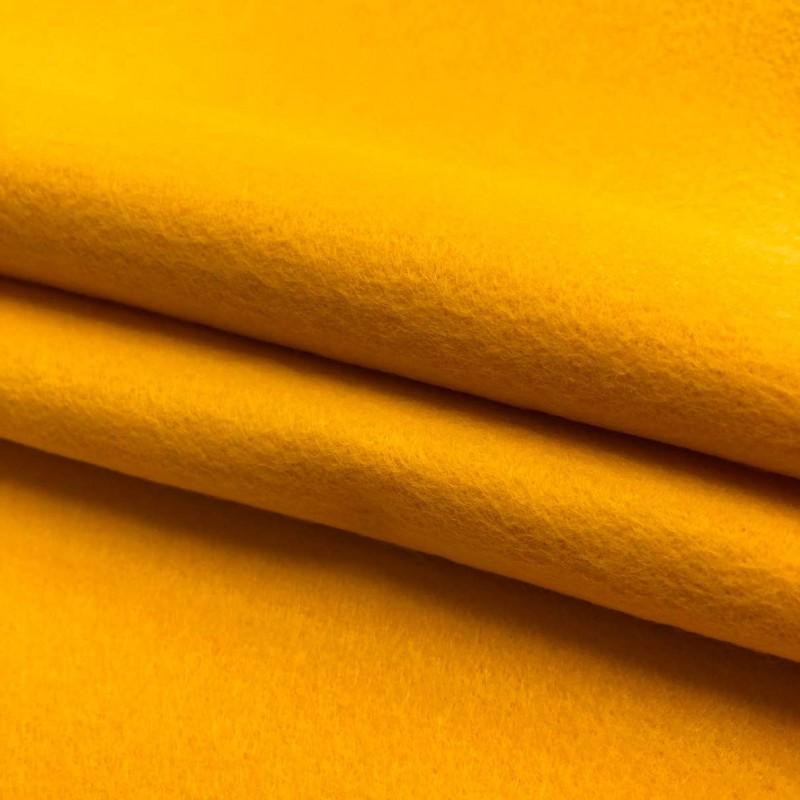 Tecido Feltro Liso Santa Fé - 100% Poliéster - 1,40m largura - Amarelo canário