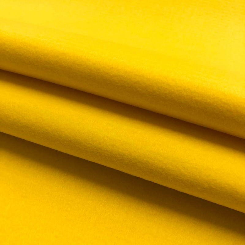 Tecido Feltro Liso Santa Fé - 100% Poliéster - 1,40m largura - Amarelo cítrico