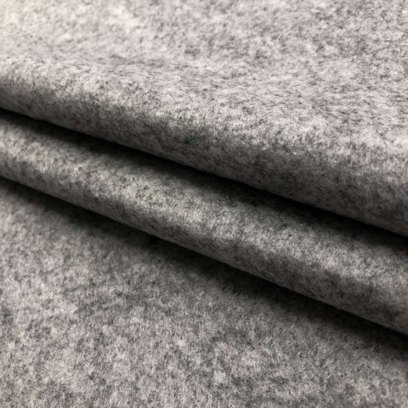 Tecido Feltro Liso Santa Fé - 100% Poliéster - 1,40m largura - Cinza mescla