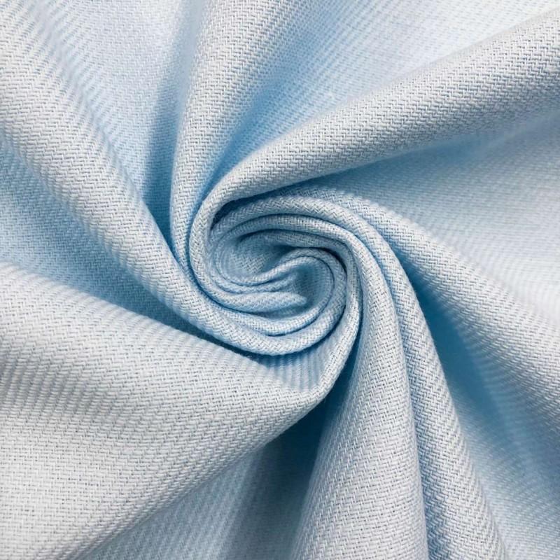 Tecido Flanela Cueiro Lisa - 100% Algodão - Azul bebê