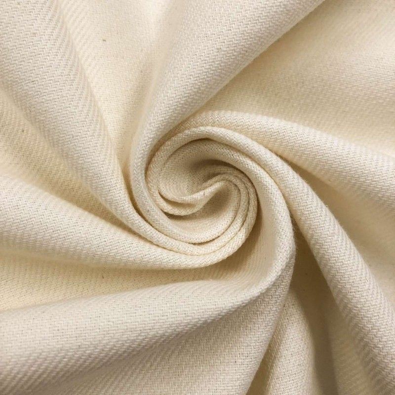 Tecido Flanela Cueiro Lisa - 100% Algodão - Marfim