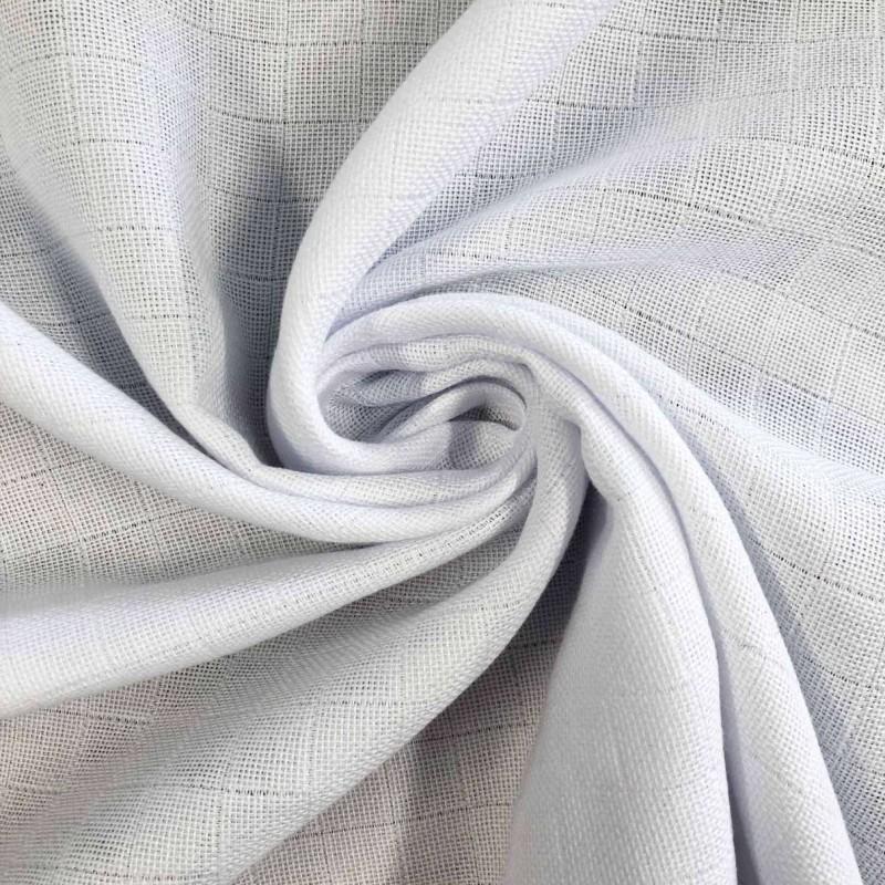 Tecido Fralda Mabber Quadriculada - 100% Algodão - 0,80m largura - Branco