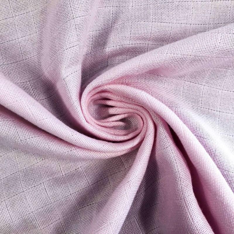 Tecido Fralda Mabber Quadriculada - 100% Algodão - 0,80m largura - Rosa bebê