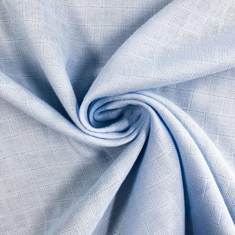 Tecido Fralda Mabber Quadriculada - 100% Algodão - 0,80m largura - Azul bebê