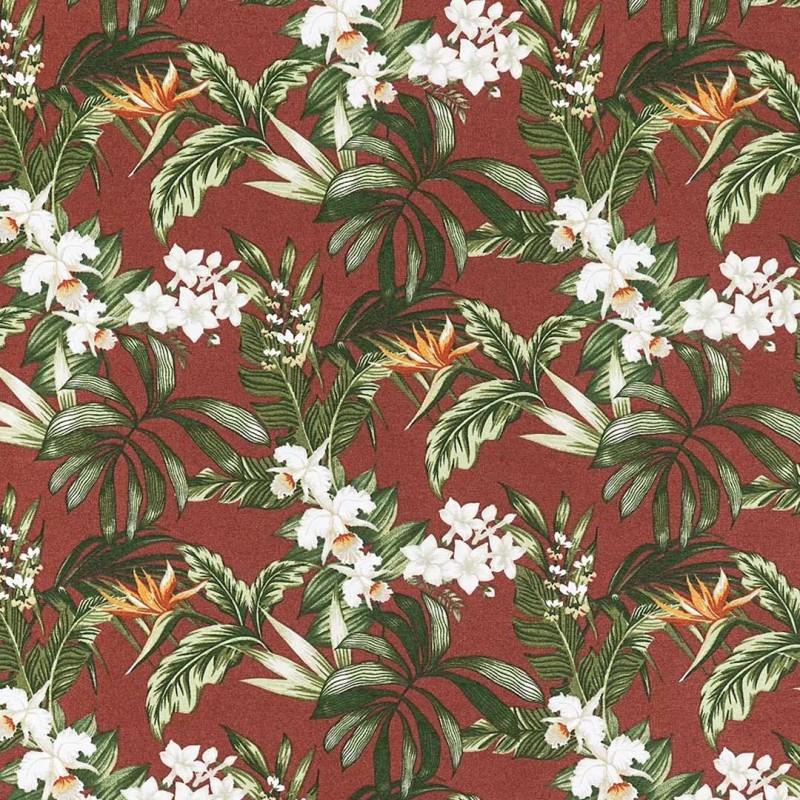 Tecido Impermeável Acquablock Karsten - Floralis Terracota - 1,40m largura - Variante 1