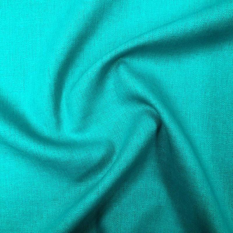 Tecido Linho - 55% Linho 45% Viscose - 1,33m Largura - Azul turquesa