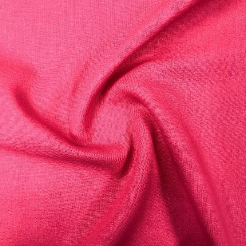 Tecido Linho - 55% Linho 45% Viscose - 1,33m Largura - Pink