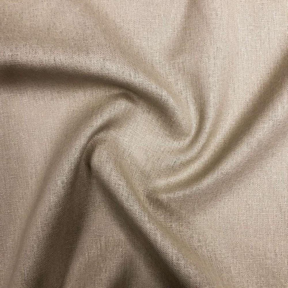 Tecido Linho - 55% Linho 45% Viscose - 1,33m Largura - Areia