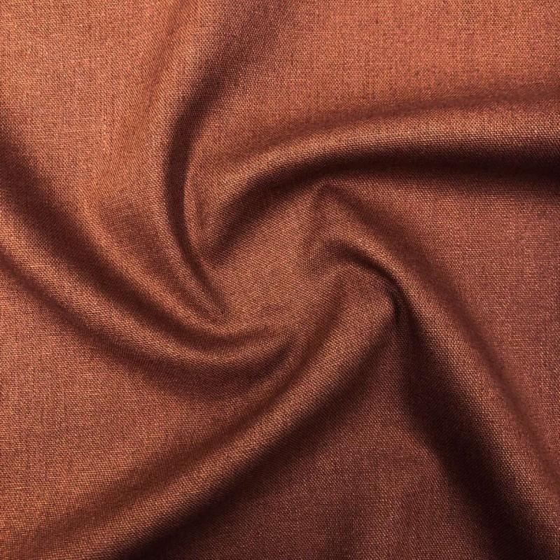 Tecido Linho - 55% Linho 45% Viscose - 1,33m Largura - Telha
