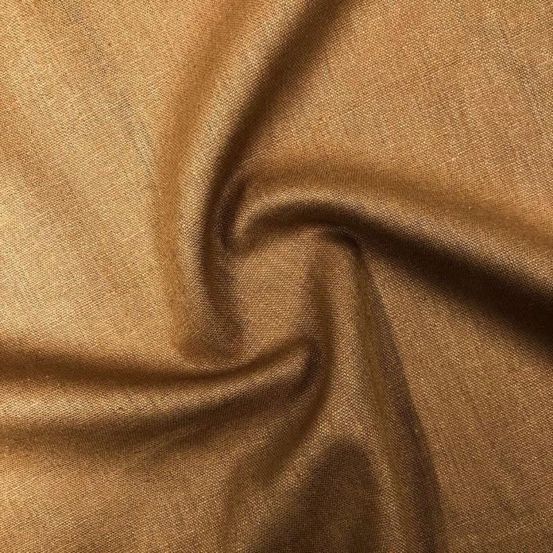Tecido Linho - 55% Linho 45% Viscose - 1,33m Largura - Caramelo