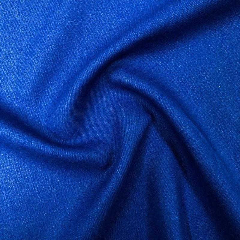 Tecido Linho - 55% Linho 45% Viscose - 1,33m Largura - Azul royal