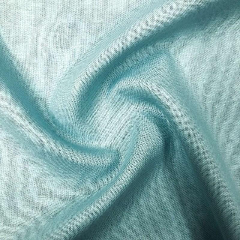 Tecido Linho - 55% Linho 45% Viscose - 1,33m Largura - Azul piscina
