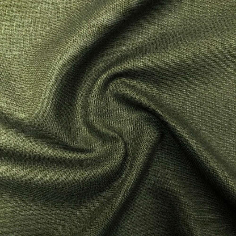 Tecido Linho - 55% Linho 45% Viscose - 1,33m Largura - Verde militar