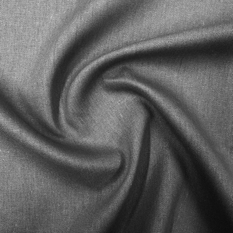Tecido Linho - 55% Linho 45% Viscose - 1,33m Largura - Cinza escuro