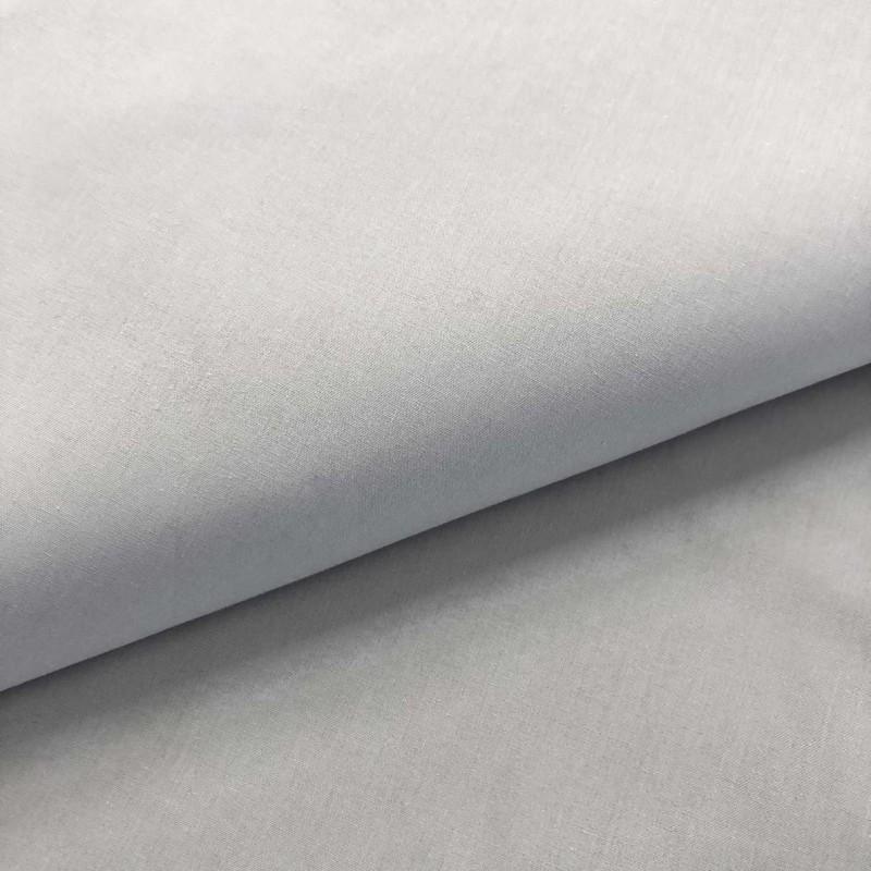 Tecido Percal 200 Fios Liso - 100% Algodão - 2,50m Largura - Cinza claro