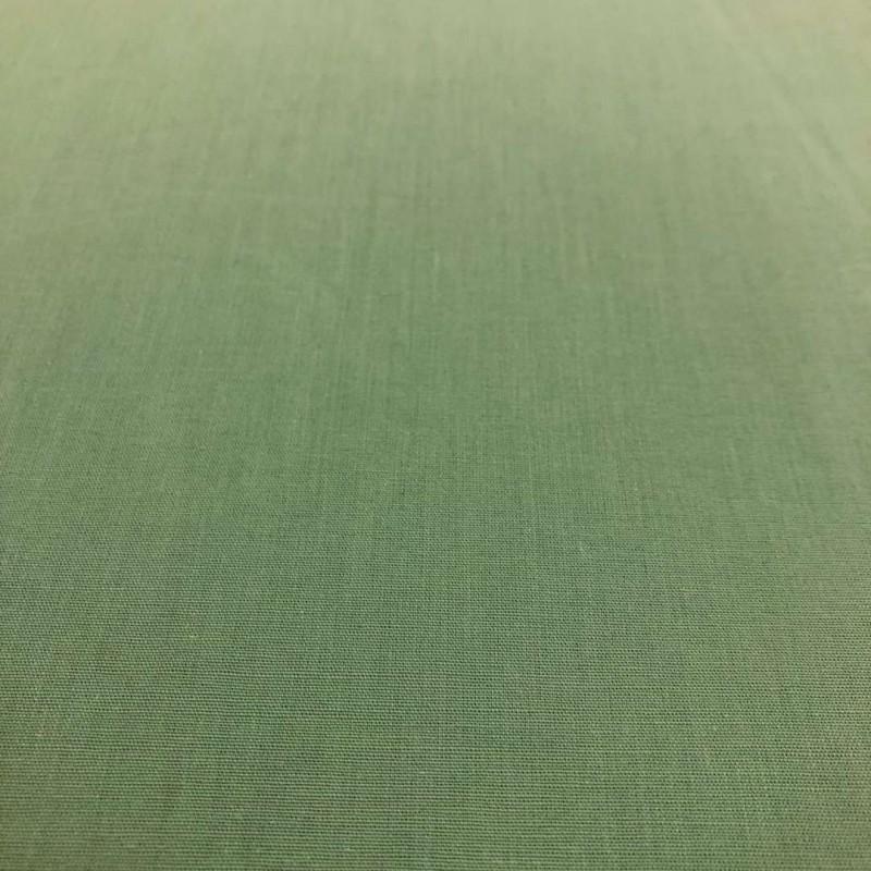 Tecido Percal 200 Fios Liso - 100% Algodão - 2,50m Largura - Verde envelhecido