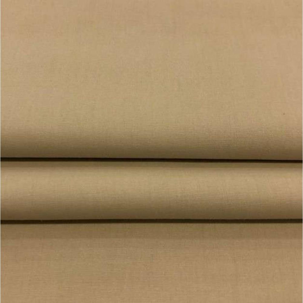 Tecido Percal 400 Fios Liso - 100% Algodão - 2,80m largura - Bege