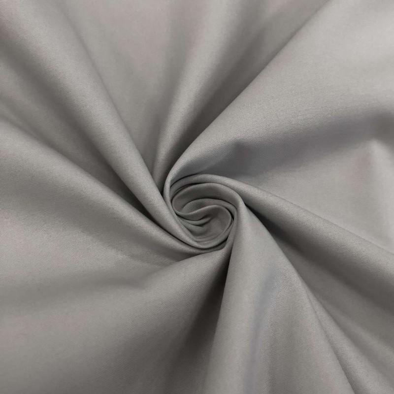 Tecido Percal 400 Fios Liso - 100% Algodão - 2,80m largura - 0089 - cinza