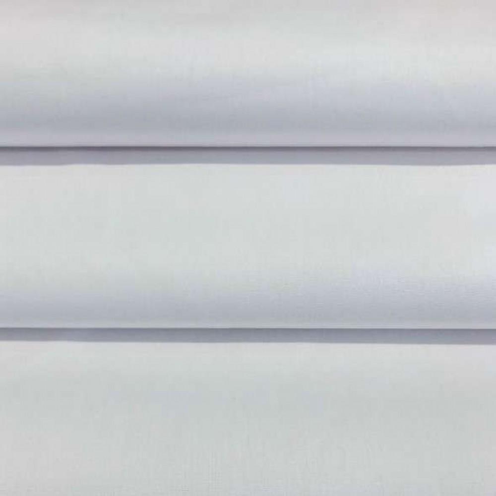 Tecido Percal 400 Fios Liso - 100% Algodão - 2,80m largura - Branco