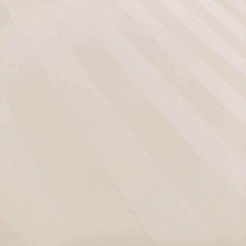 Tecido Percal 400 Fios Listrado - 100% Algodão - 2,80m largura - Pérola