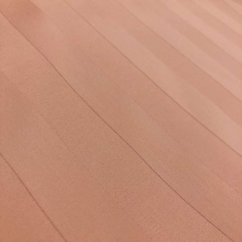 Tecido Percal 400 Fios Listrado - 100% Algodão - 2,80m largura - Rosê