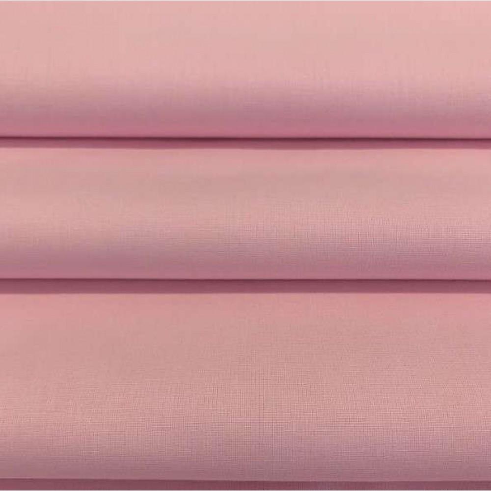Tecido Percal 400 Fios Liso - 100% Algodão - 2,80m largura - Rosa bebê