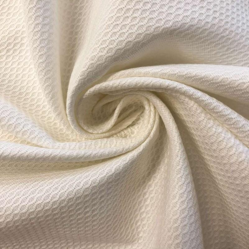 Tecido Piquet Grão de Arroz - 100% Algodão - 1,40m largura - Off white
