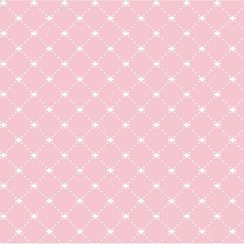 Tecido Tricoline - Arabesco Pontilhado (Poá) - 100% Algodão - 1,50m largura - Variante 81