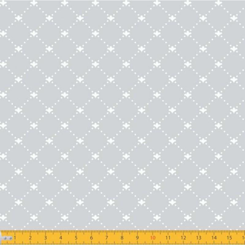 Tecido Tricoline - Arabesco Pontilhado (Poá) - 100% Algodão - 1,50m largura - Variante 91