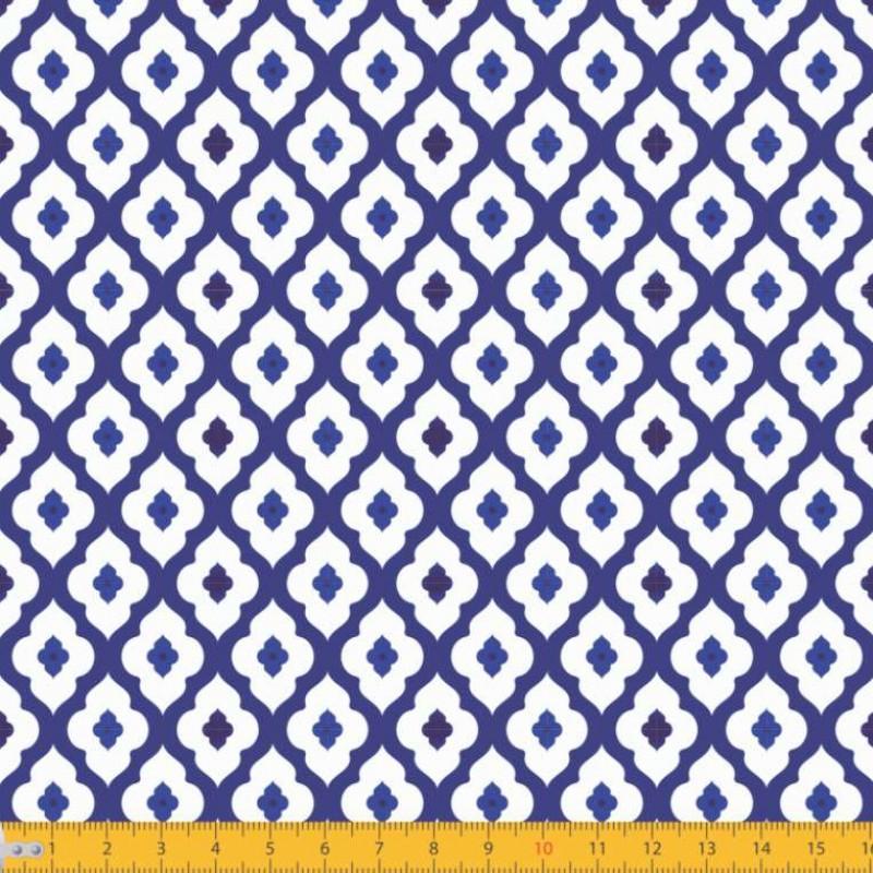 Tecido Tricoline - Arabesco Português - 100% Algodão - 1,50m largura - Variante 1