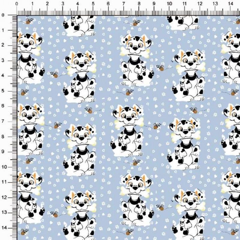Tecido Tricoline Estampado - Cachorrinho Dalmata - 100% Algodão - 1,50m largura - Variante 1