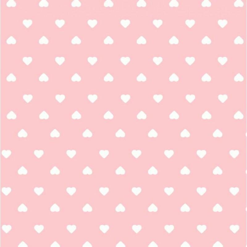 Tecido Tricoline Estampado - Mini Coração - 100% Algodão - 1,50m largura - Variante 81