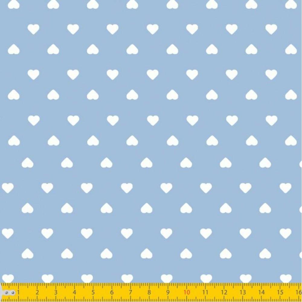 Tecido Tricoline Estampado - Mini Coração - 100% Algodão - 1,50m largura - Variante 82