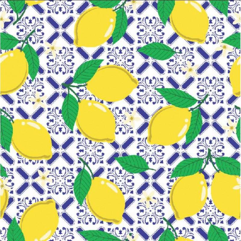 Tecido Tricoline - Limão Siciliano - 100% Algodão - 1,50m largura - Variante 1