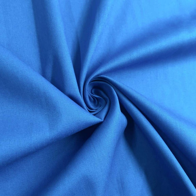 Tecido Tricoline Lisa - 100% Algodão - 1,50m largura - Azul royal claro