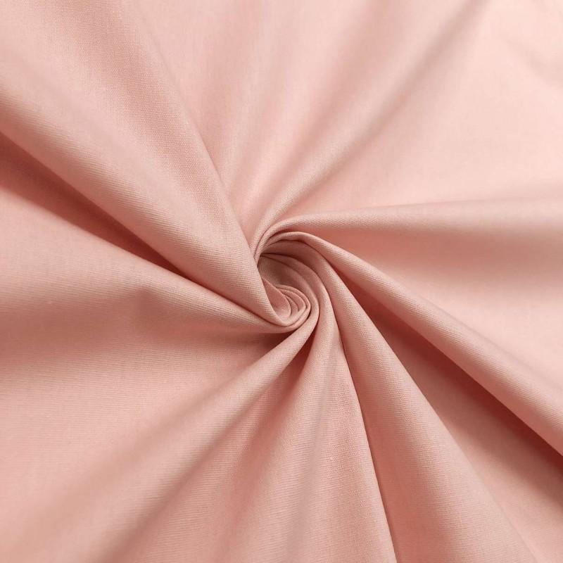 Tecido Tricoline Lisa - 100% Algodão - 1,50m largura - Rosê