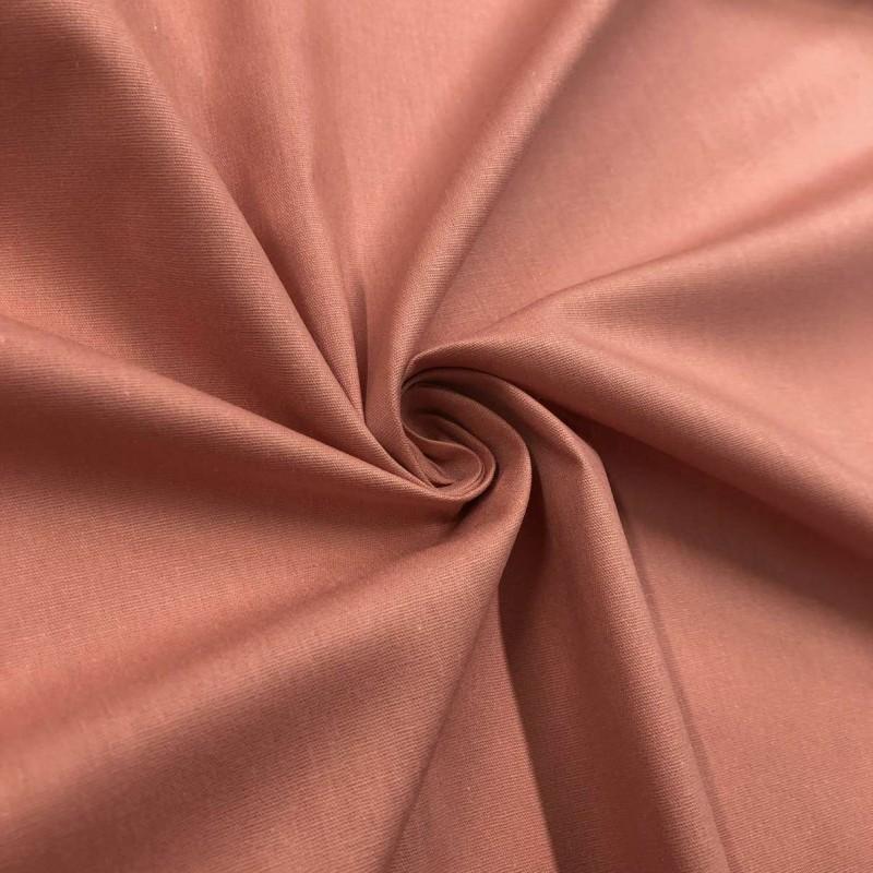 Tecido Tricoline Lisa - 100% Algodão - 1,50m largura - Rosa envelhecido